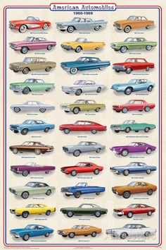 American Autos of 1960-1969 Poster at AllPosters.com