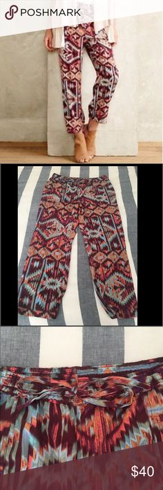 Anthropologie Lilka Joggers These Joggers are so fun and the colors are beautiful! Unfortunately they are too big now and were always a little too long (I'm 5'4). NO TRADES, offers welcome! Anthropologie Pants Track Pants & Joggers
