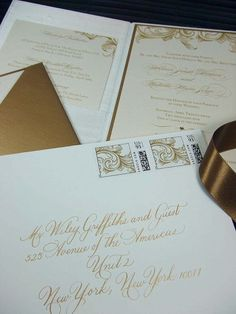 Reminds me of our wedding invitations.  wedding invite by Laura Hooper Calligraphy <a href='http://lhcalligraphy.com/'