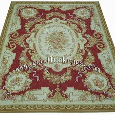 Handmade French Aubusson Design Roses Wool Needlepoiont Area Rug Made To Order