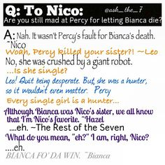Bianca di Angelo, trolling from the dead