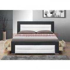 Manželská posteľ 160 cm Taona (s roštom) Box Bed Design, Bedroom Closet Design, Bedroom Furniture Sets, Bedroom Furniture Design, Bed Furniture Design, Sofa Bed Design, Wooden Bed Design, Bedroom Bed Design, Bed Furniture