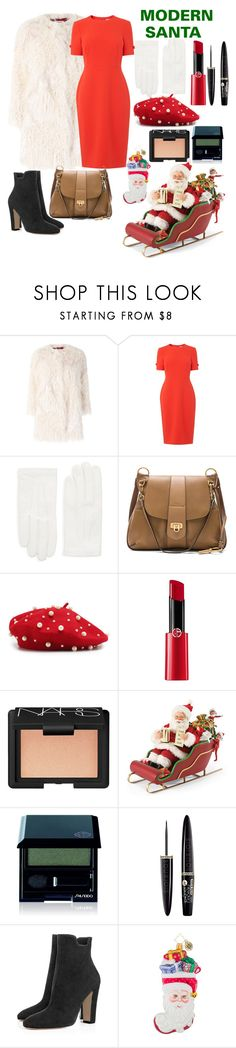"""""""JINGLE BELLS!!"""" by fun-me ❤ liked on Polyvore featuring Zadig & Voltaire, L.K.Bennett, RED Valentino, Chloé, Giorgio Armani, NARS Cosmetics, Improvements, Shiseido, Bourjois and Christopher Radko"""