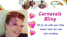 Carnavals schmink met superleuke bling !!!