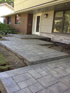 Armstrong concrete - fancy walkway to the front door. Love it! http://in-oshawa.com/concrete