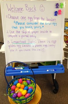 "In 5th Grade with Teacher Julia: ""Egg""cellent Review Basket: A fun way to incorporate a review of all skills taught"