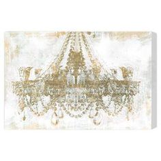 Hang this artful canvas print above your living room seating group to create a stylish conversation space, or display it in the foyer for eye-catching appeal. Crafted in the USA, this chic design showcases a chandelier motif.    Product: Canvas printConstruction Material: Canvas and wood  Features:  Hand-stretched Gallery-wrappedArrives ready to hang with all hardware included Made in the USA Includes a certificate of authenticity by the artist      Cleaning and Care: Dust lightly ...