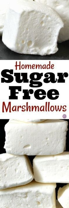 How to Make Sugar Free Marshmallows #sugarfree #recipe #yummy #best #lowcarb #dessert