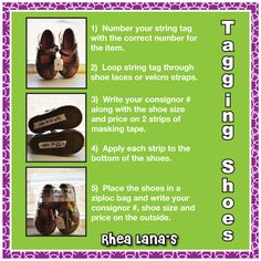 b36edeb0f01fba Guide for Tagging Shoes  rhealanas  consignment www.rhealana.com Cleaning  Toys