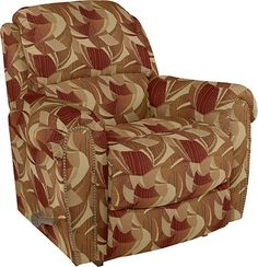 Walker Reclina Rocker 174 Recliner By La Z Boy Dark Red