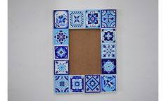 Bored of the plain ol' frames! Reinvent those using small wooden pieces and Fevicryl Colours. This Talavera frame is sure to catch the eyes of many! Ethnic Home Decor, Hobby Ideas, Diy Gifts, Tiles, Colours, Ceramics, Frame, Room Tiles, Ceramica