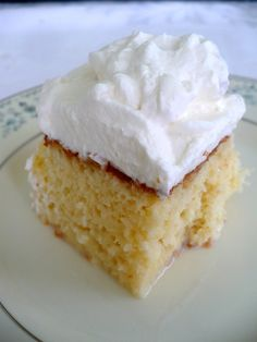 Sponge cake soaked with a mixture of condensed milk, evaporated milk, and cream. The cake doesn't get soggy, it just soaks up the milks and turns into the most delicious cake ever.