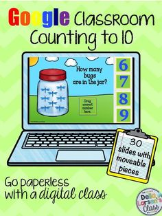 Technology activity for  your kindergarten class with counting google classroom resource. A great addition to your math centers. (Mad Minutes Common Cores)