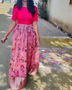 Best 12 The red glow Red gown with embroidery 😀can be customised to any color n size 🤩To Order With Us, Call or Whatsapp Us… Kurti Designs Party Wear, Lehenga Designs, Kurta Designs, Blouse Designs, Kalamkari Dresses, Ikkat Dresses, Frock Design, Designer Anarkali Dresses, Designer Dresses