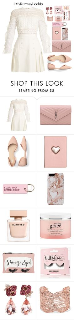 """♡ #21"" by abiegarrison ❤ liked on Polyvore featuring self-portrait, Yves Saint Laurent, Various Projects, philosophy, Accessorize, Anyallerie, Aurélie Bidermann and vintage"