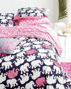 Lilly Pulitzer Perfectly Printed Percale Bedding Collection by Garnet Hill.