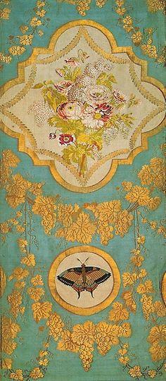 MARIE ANTOINETTE'S SILK FABRICS | Silk cloth woven for Marie Antoinette for the summer furnishings of ...
