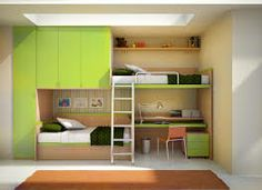 Green Modern Shared Kids Room Design with Cool Bunk Beds with Wide and Tall Storage Closet and Cabinets plus Wall Mounted Shelving and Study Desk. Room Space Saving Ideas: Best Multifunctional Loft and Bunk Beds for Kids Bedroom Bunk Bed With Desk, Loft Bunk Beds, Double Bunk Beds, Wooden Bunk Beds, Bunk Bed Plans, Bunk Beds With Storage, Full Bunk Beds, Bunk Beds With Stairs, Kids Bunk Beds