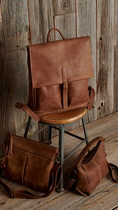 Photo by Roots on March can find Leather bags and more on our website.Photo by Roots on March Leather Backpack, Leather Bags, Bradley Mountain, Style Icons, Roots, Backpacks, Classic, March, Website