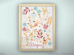 Love it.  Custom print baby name wall art for baby nursery by LeoLittleLion, $29.00