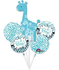 Check out Sweet Safari Boy Balloon Bouquet - Reduced Supplies from Wholesale Party Supplies
