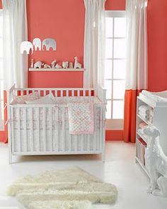 If we have a girl, I like coral for a pop of color. Just a little more pink than this.