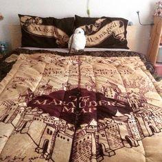 Marauders Map bedspread - I need this so badly!