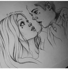 Stiles Teen Wolf, Stiles Et Lydia, Teen Wolf Fan Art, Teen Wolf Stydia, Teen Wolf Ships, Teen Wolf Dylan, Cute Couple Drawings, Cute Couple Art, Cool Art Drawings