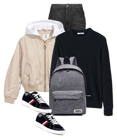 """""""Untitled #523"""" by leehyena on Polyvore featuring Helmut Lang, H&M, MANGO, WithChic and Tommy Hilfiger"""