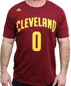 6b1db86e05f NBA Cleveland Cavaliers Kevin Love 0 Mens 7 Series Name Number Short Sleeve  Tee XLarge Maroon