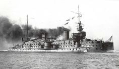 """It's the French Battleship Carnot. She belong to the """"Flotte d'échantillons"""" at the end of the XIX th century."""