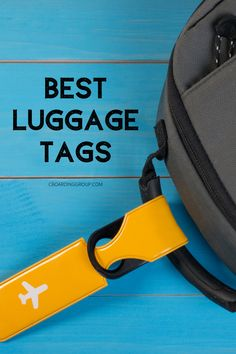 With a unique luggage tag your suitcase can stand out in a sea of boring black bags. Our list of the best luggage tags can help yours do just that! Cute Luggage Tags, Personalized Luggage Tags, Luggage Suitcase, Best Luggage, Leather Luggage Tags, Packing Tips For Travel, Travel Essentials, Travel Bags, Best Travel Gifts