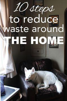 10 Zero Waste Tips for Reducing Waste Around the Home at www.goingzerowaste.com