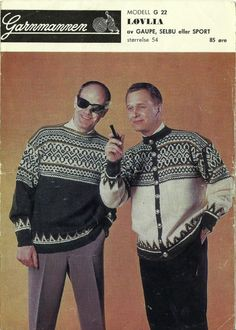 Løvlia G22 Norwegian Knitting, Retro Images, Knitting Patterns, How To Make, How To Wear, Boys, Sweaters, Jackets, Vintage