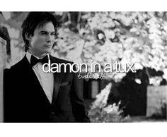TVD Stuff Damon in a tux