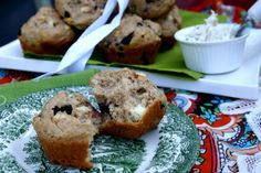 Savory Spelt Muffins with Feta and Olives