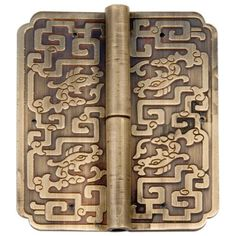 Chinese Brass Hardware Four Dragons Hinges 3-1/2'' - Set of 2 : All