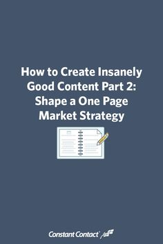 In this post we're going to give you a brief overview of the 13 Box, one page market strategy structure. From there, we invite you to download your copy of, How To Shape a One Page Market Strategy, written specifically for this blog series. It provides a more comprehensive explanation of developing your one page market strategy and has a printable workbook at the end to make life that much easier for you.