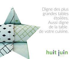 Nappes originales BISTRO HUIT JUIN maison. #huitjuinmaison #bistrohuitjuin http://www.huitjuin.com/collections/bistro/products/nappe-reversible-bistro-60-x-90