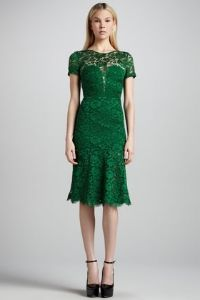 What to Wear to a Spring Wedding: Burberry Prorsum Cutout-Back Lace Dress