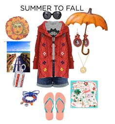 """Florida Summer to Fall #layers"" by kelly-haven-russell on Polyvore featuring 3x1, Accessory PLAYS, Kate Spade, Rembrandt Charms, Chanel and Havaianas"