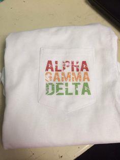 Alpha Gamma Delta Pocket Tshirt!