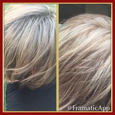 Before and after Wella T15 and Wella T18 toner