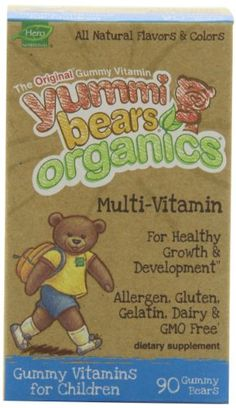Yummi Bears Organics Multi-Vitamin, Gummy Vitamins for Children, 90-Count Bottle | groceryany