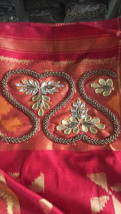 Couture Embroidery, Gold Embroidery, Embroidery Dress, Embroidery Designs, Aari Work Blouse, Zardosi Work, Maggam Works, Indian Bridal Wear, Indian Textiles