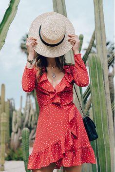 RUFFLE SHORT RED DRESS
