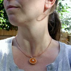 pumpkin pie necklace a la inediblejewelry