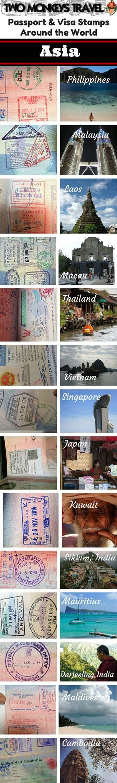 #PassportStamps are one of the greatest souvenirs we get from our travels around the world. They are so much more than blotches of ink on paper; they remind us of places we've been, triggering much-treasured memories of the things we saw, the people we met and the adventures we had along the way. #TravelStories #Asia #TwoMonkeysTravelGroup