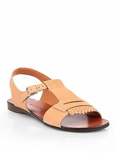 Chie+Mihara Ebony+Leather+Sandals