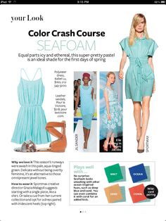 Color crash course-- complimentary colors for various palletes-- TheDiva Style & Design Guide: Inspired by InStyle Colour Combinations Fashion, Color Combinations For Clothes, Fashion Colours, Color Combos, Quoi Porter, Instyle Magazine, Color Pairing, Fashion Advice, Color Trends